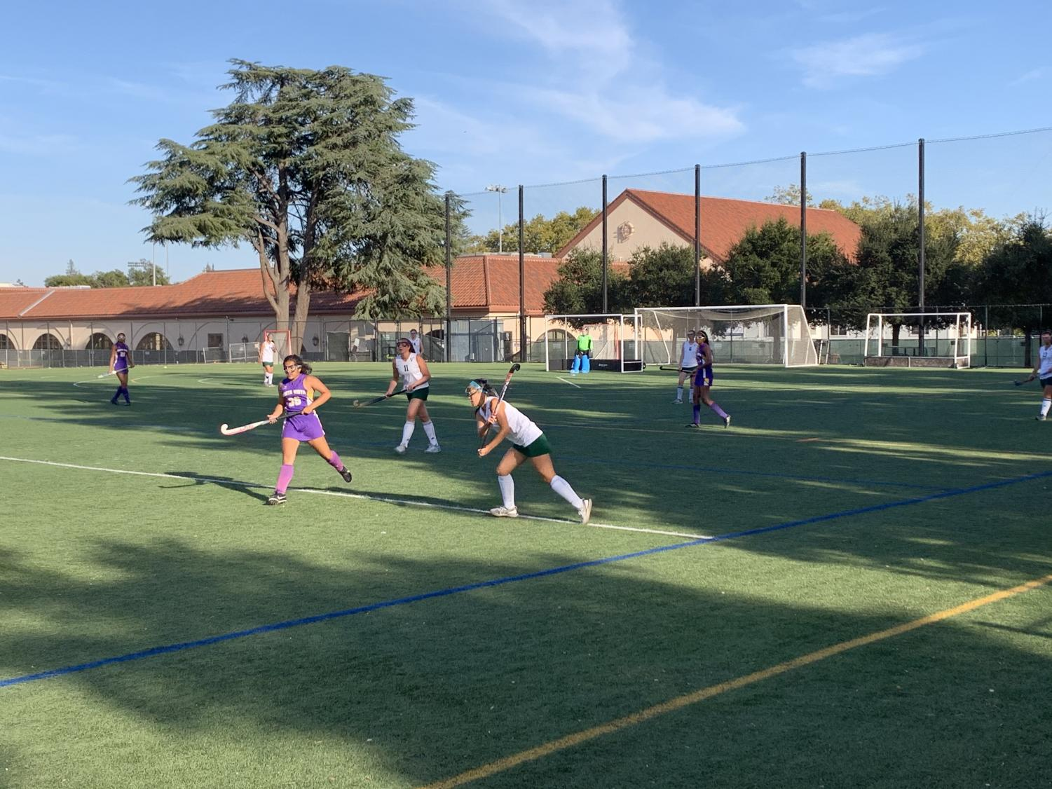 Phoebe Kim passing to a teammate in a 2-0 win vs Monta Vista
