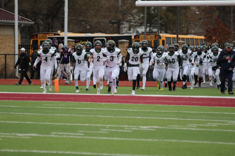 De La Salle takes the field. Photo courtesy of Birmingham Groves High School.