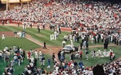 The following moments after the Loma Prieta earthquake struck during the 1989 World Series