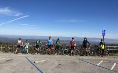 The Paly Cycling Club on Skyline.